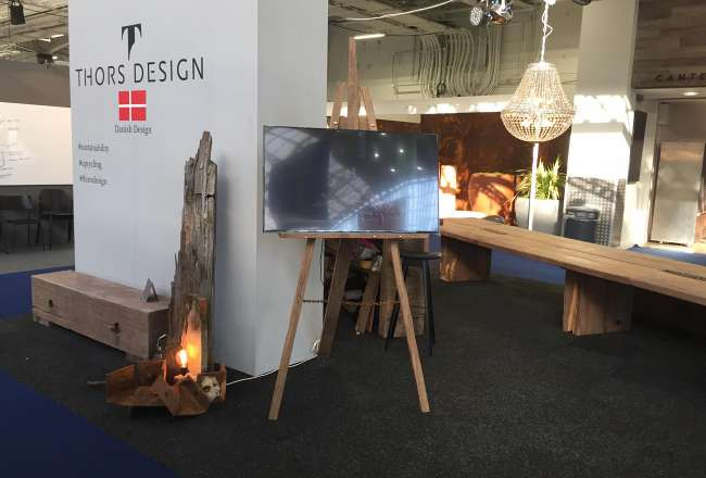 Thors Design Gamma, speciallavet lampe og stafelli til 100% Design i London 2019