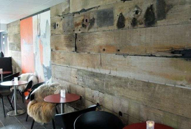 Decorative panels used as wall cladding